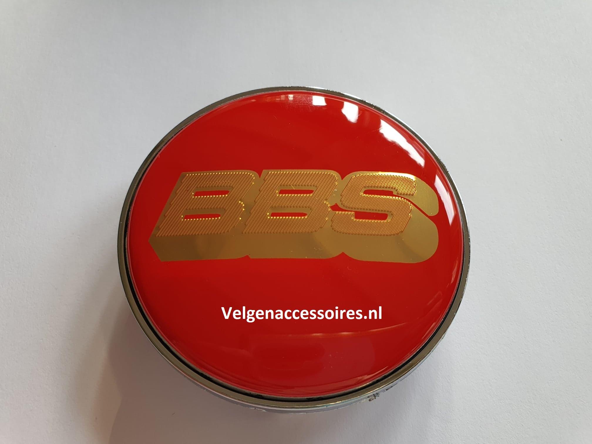 BBS naafdoppen 68mm Rood goud