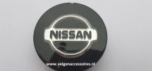 Nissan naafdoppen 60mm zwart