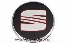 Seat Naafdoppen 55mm 6ll601171 zwart
