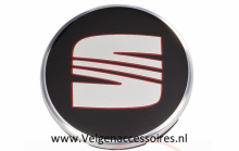 Seat Naafdoppen 63mm 1p06601165 zwart