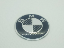 BMW naafdop stickers 57mm carbon