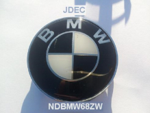 BMW stickers 65mm zwart wit