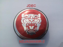 Jaguar naafdoppen 60mm rood