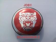 Jaguar naafdoppen 60mm rood