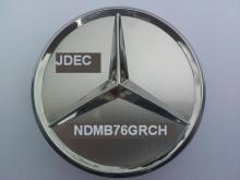 Mercedes naafdoppen 75mm zilver