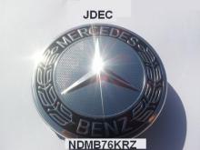 Mercedes naafdoppen 75mm krans zwart