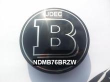 Mercedes naafdoppen 75mm B zwart