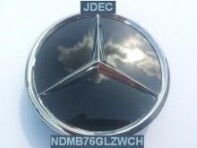 Mercedes naafdoppen 75mm zwart glans