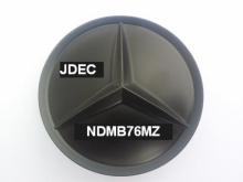 Mercedes naafdoppen 75mm matzwart