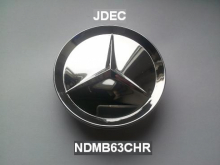 Mercedes naafdoppen 63mm chroom