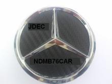 Mercedes naafdoppen 75mm carbon zwart