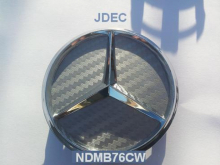 Mercedes naafdoppen 75mm carbon zilver