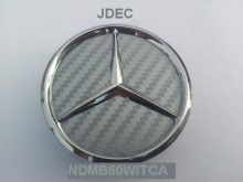 Mercedes naafdoppen 60mm carbon zilver