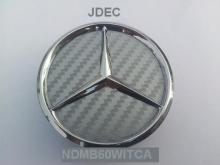 Mercedes naafdoppen 60mm carbon zilver