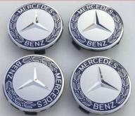 Mercedes naafdoppen 75mm krans blauw