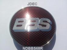 BBS naafdoppen 68mm Rood