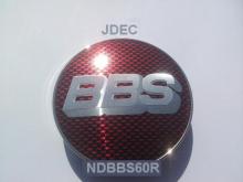 BBS naafdoppen 60mm Rood